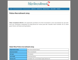 up.policerecruitments.in screenshot