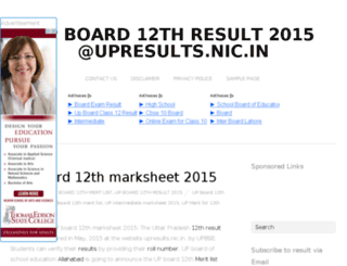 up12thresults2015.in screenshot