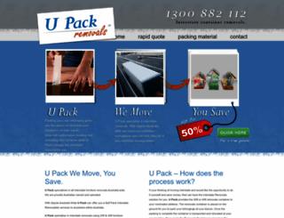 upack.com.au screenshot