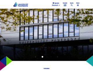 upb.de screenshot
