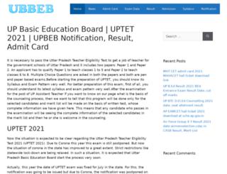 upbasiceducationboard.in screenshot