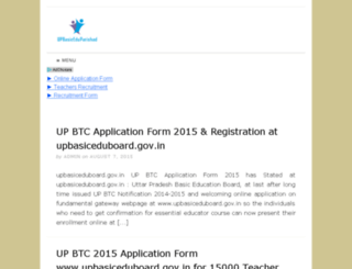 upbasiceduparishad.net screenshot