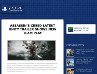 upcomingps4.com screenshot