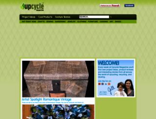 upcyclemagazine.com screenshot