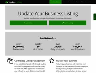 updatelisting.com screenshot