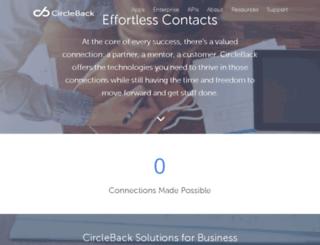 updates.circleback.com screenshot