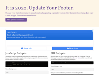 updateyourfooter.com screenshot