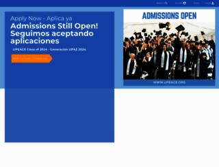 upeace.org screenshot
