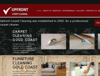 upfrontcarpetcleaning.com.au screenshot