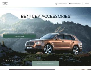 upgrades.bentleymotors.com screenshot