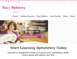 upholsteryclass.kimsupholstery.com screenshot