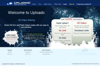 uploadc.com screenshot