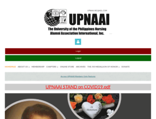 upnaai.wildapricot.org screenshot