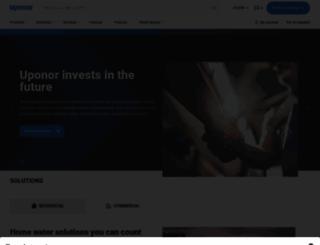 uponor.com screenshot
