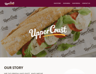 uppercrust.uk.com screenshot