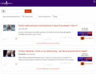 uprightnews.com screenshot