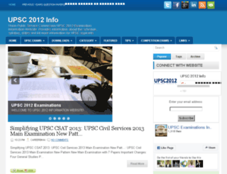 upsc2012.com screenshot