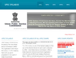 upscsyllabus.info screenshot