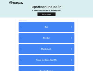 upsrtconline.co.in screenshot