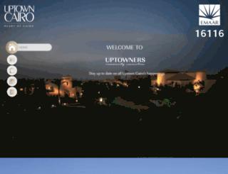 uptowners.emaarmisr.com screenshot