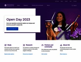 uq.edu.au screenshot