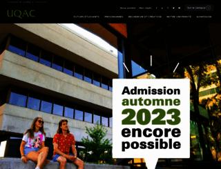uqac.ca screenshot