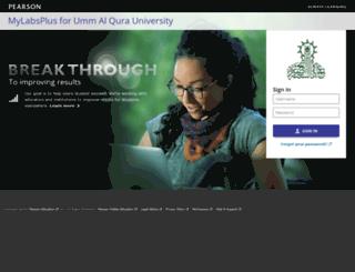uqu.mylabsplus.com screenshot