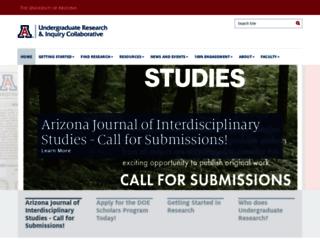 ur.arizona.edu screenshot