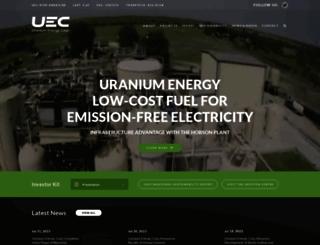 uraniumenergy.com screenshot
