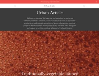 urbanarticles.com screenshot
