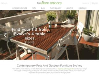 urbanbalcony.com.au screenshot