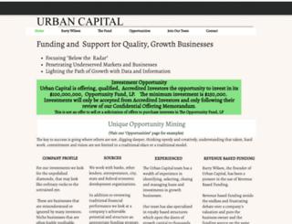 urbancapital.com screenshot