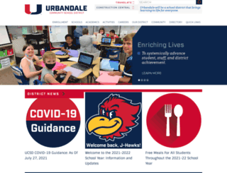 urbandaleschools.com screenshot