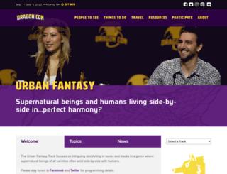 urbanfantasy.dragoncon.org screenshot