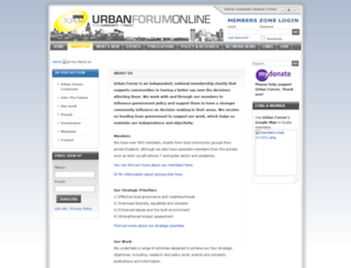 urbanforum.org.uk screenshot
