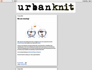 urbanknit.blogspot.com screenshot