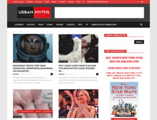 urbanmyths.com screenshot