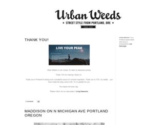 urbanweedsblog.com screenshot
