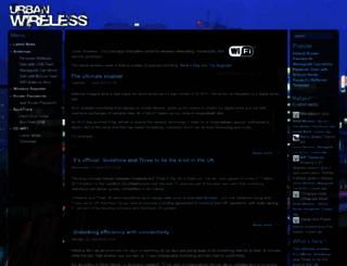 urbanwireless.info screenshot
