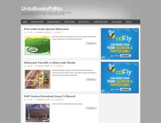 urdubookspdf4u.blogspot.com screenshot
