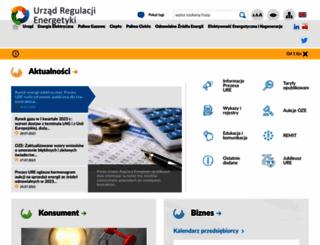 ure.gov.pl screenshot