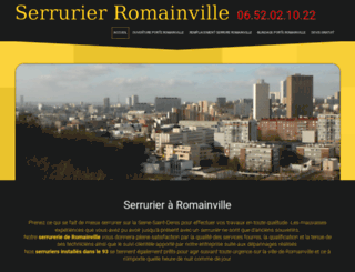 urgence-serrurier-romainville.fr screenshot