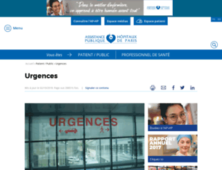 urgences.aphp.fr screenshot