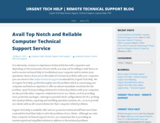 urgenttechhelp.wordpress.com screenshot