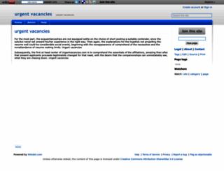 urgentvacancies.wikidot.com screenshot
