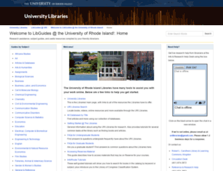 uri.libguides.com screenshot