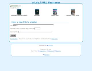 url.dy.fi screenshot