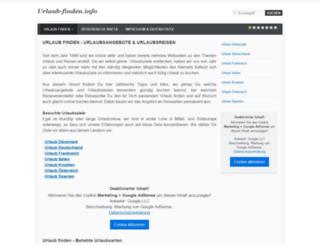 urlaub-finden.info screenshot