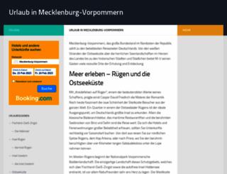 urlaub-m-v.de screenshot