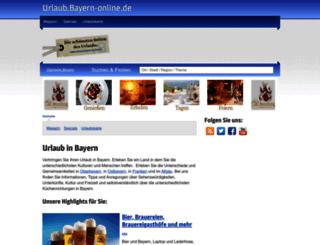 urlaub.bayern-online.de screenshot